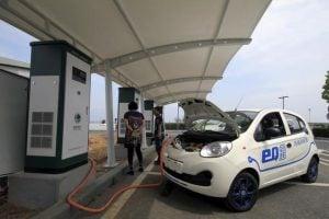محطة شحن للسيارات الكهربائية