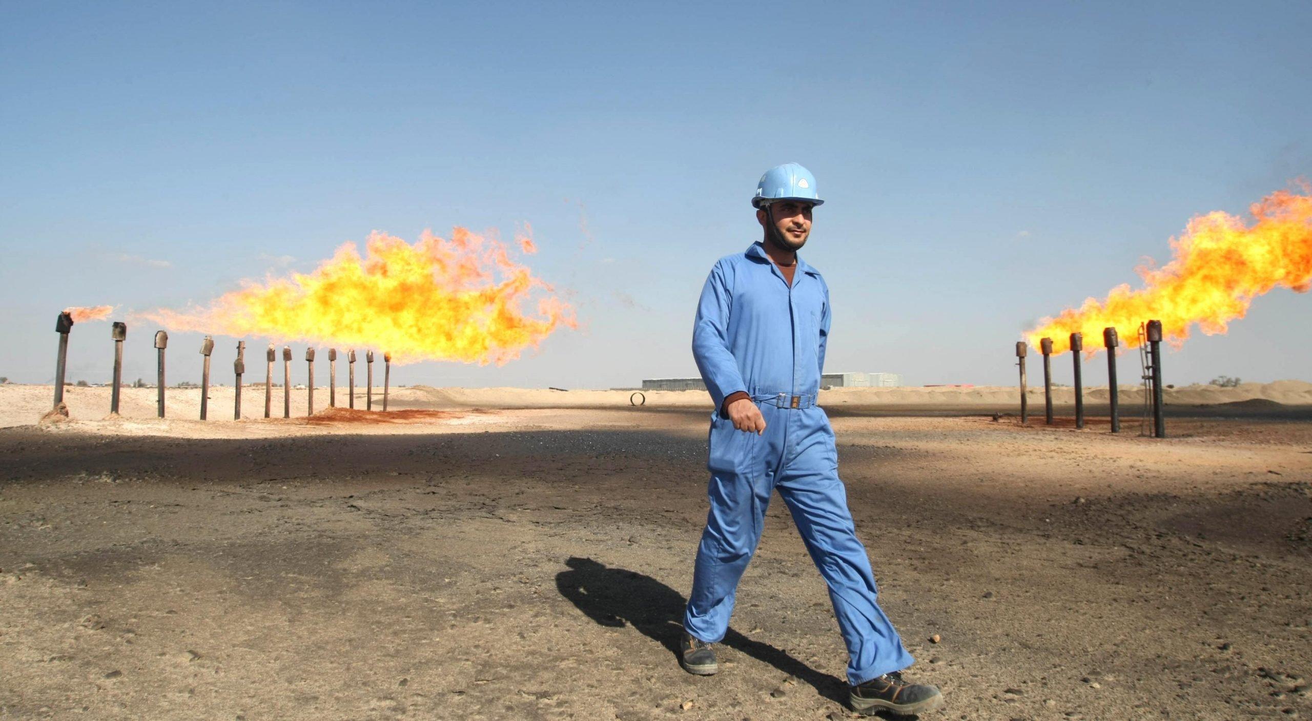 حقل نفطي عراقي - الغاز المصاحب