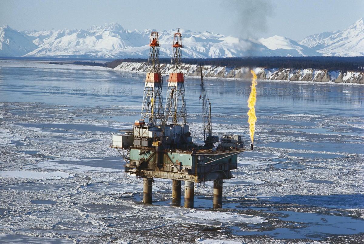 منصة لإنتاج النفط في بحر الشمال - أرشيفية