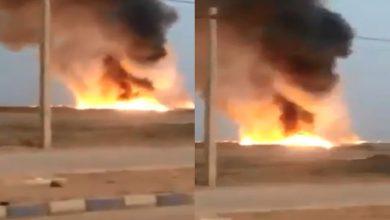 Photo of انفجارات إيران مستمرة..حريق هائل بخط أنابيب نفط فى الأحواز