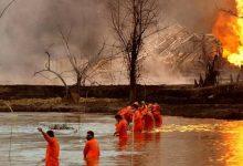 Photo of بعد 45 يومًا من انفجار.. النيران لا تزال تلتهم حقل نفط هنديًا