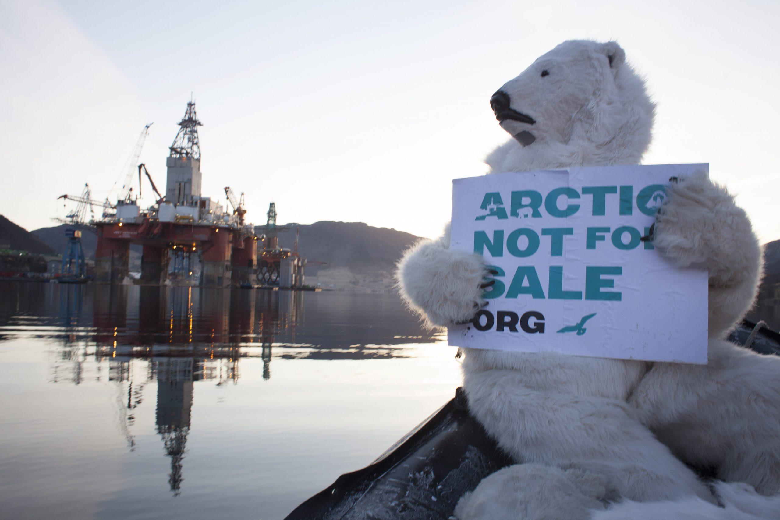 أنصار حماية البيئة يسعون إلى منع أعمال التنقيب عن النفط بالقطب الشمالي