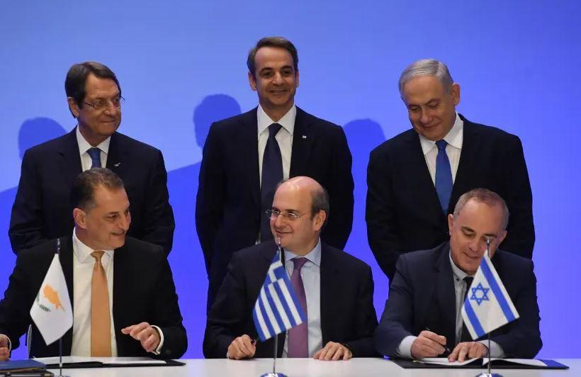 توقيع اتفاق خط أنابيب إيست ميد بين قبرص واليونان وإسرائيل في يناير 2020