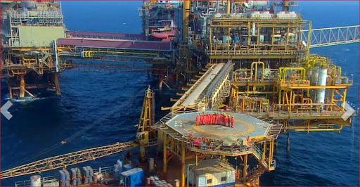 إحدى المنصات البحرية التابعة لشركة النفط الهندية