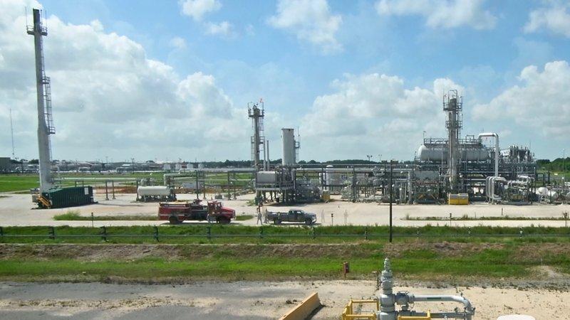 صورة لجزء من محطة هاكبيري للاحتياطي النفطي الاستراتيجي الميركي