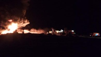 Photo of اندلاع حريقين في الجزائر إثر تسرّب نفطي