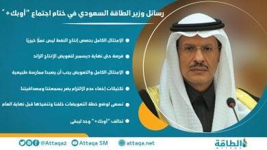 "Photo of إنفوغرافيك.. رسائل وزير الطاقة السعودي في ختام اجتماع ""أوبك +"""