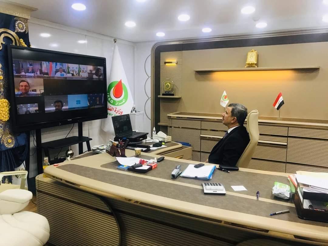 صادرات النفط العراقي - وزير النفط العراقي إحسان عبدالجبار أثناء الاجتماع