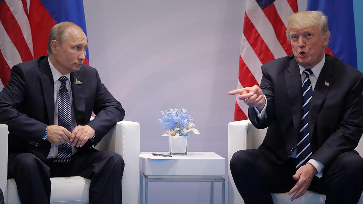 اجتماع الرئيس الأميركي ترمب مع الرئيس الروسى فلاديمير بوتين
