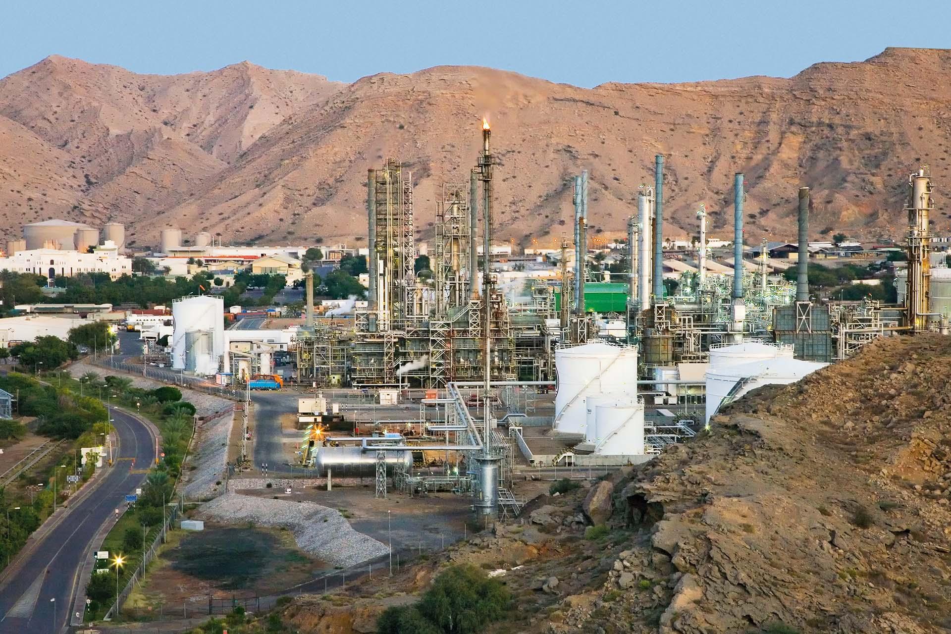 منشأة غاز في سلطنة عمان