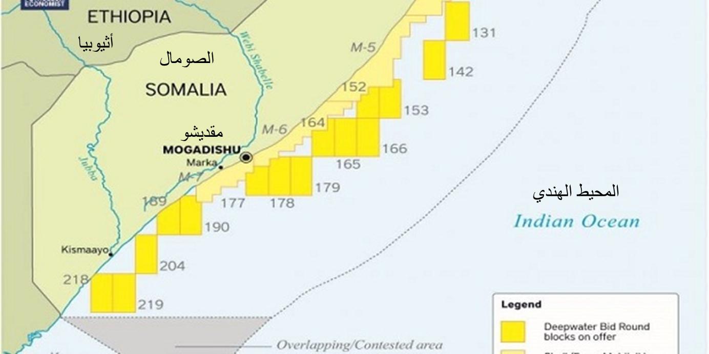 المربعات النفطية في الصومالل
