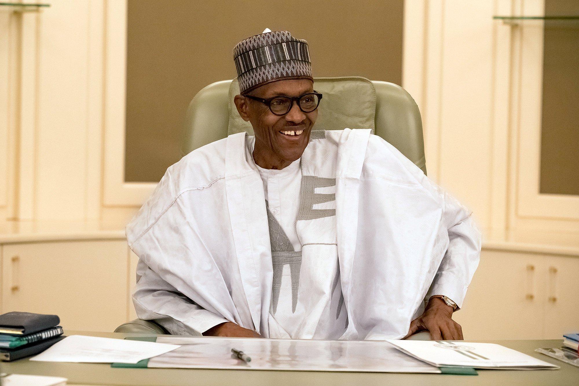 الرئيس النيجيرى محمد بخارى