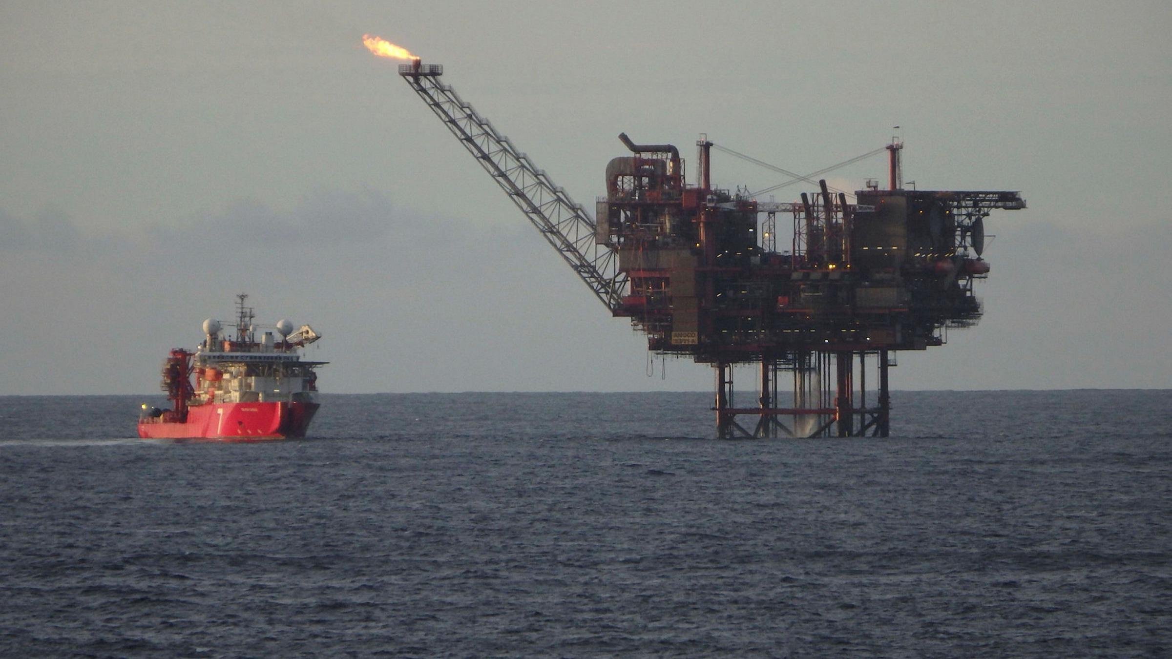 منصة نفط في بحر الشمال