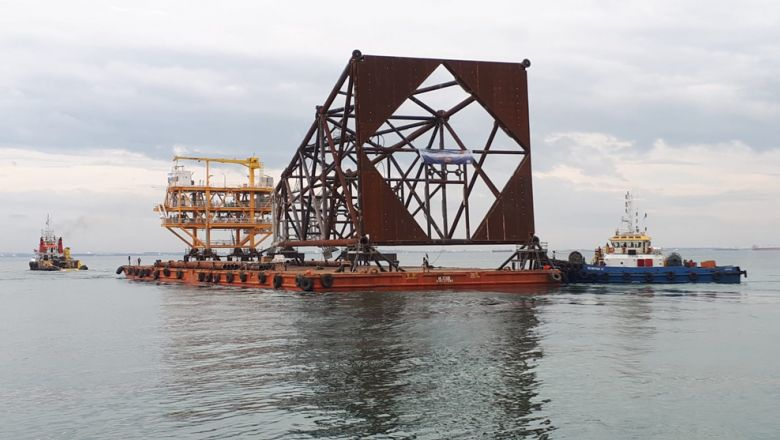 حقل النفط بحري في كمبوديا