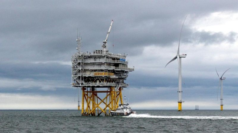 آليات لتوليد طاقة الرياح في بحر الشمال