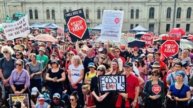 "Photo of استمرار الاحتجاجات في أستراليا ضدّ منجم فحم ""أداني"""