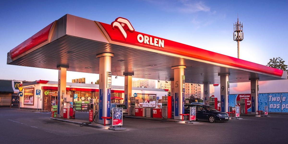 محطة وقود تابعة لأورلين في بولندا