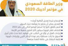 Photo of أديبك 2020.. أبرز تصريحات وزير الطاقة السعودي (إنفوغرافيك)