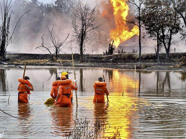 حريق حقل بغجان النفطي