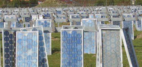 إعادة تدوير الألواح الشمسية
