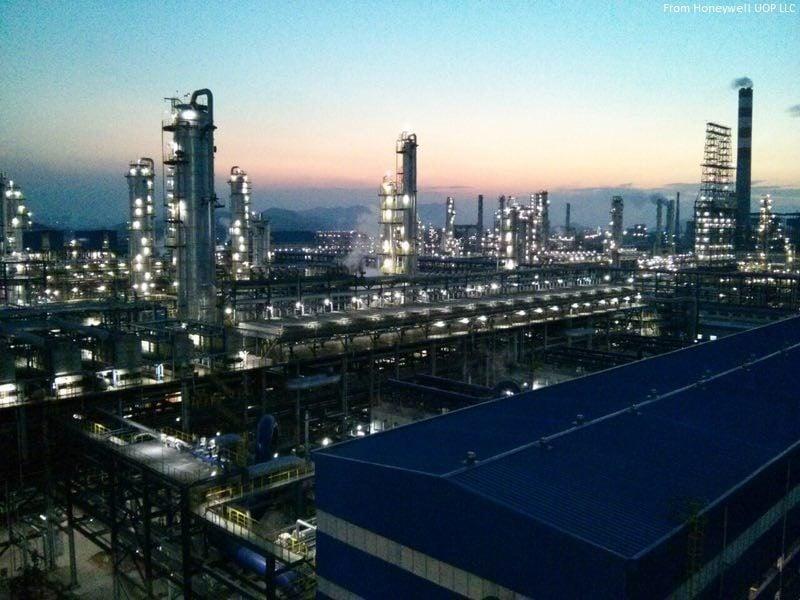 قطاع البتروكيماويات الصيني