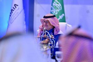 وزير الطاقة السعودي أثناء توقيع الاتفاقيات مع سدايا