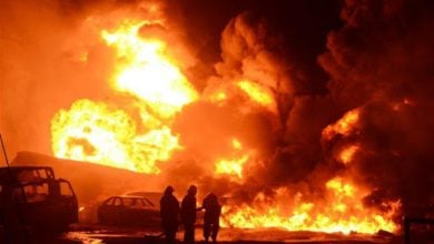 Photo of انفجار شاحنة بمحطة وقود في نيجيريا