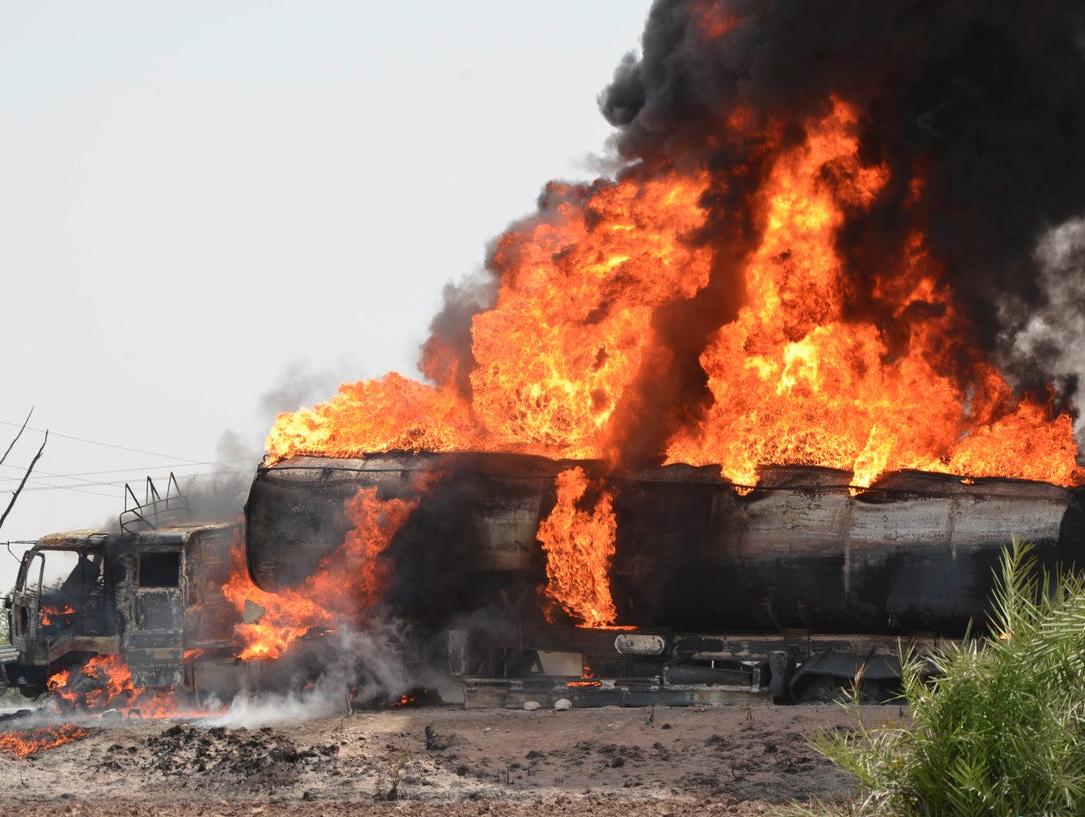 انفجار شاحنة غاز