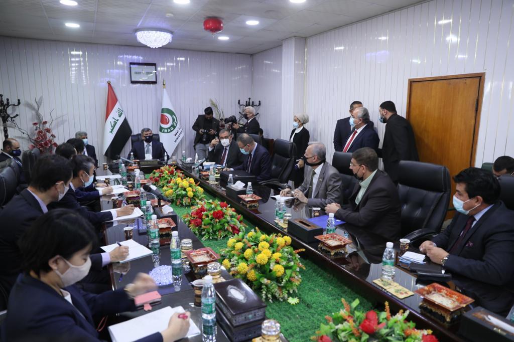 العراق - جانب من اجتماع عبدالجبار بالوفد الياباني - الصورة من موقع وزارة النفط