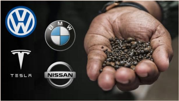 الكوبالت والعلامات التجارية لأبرز شركات السيارات