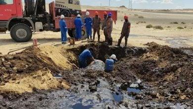 """Photo of """"الليبية للنفط"""" تسيطر على تسرب نفطي قرب حقل الظهرة"""