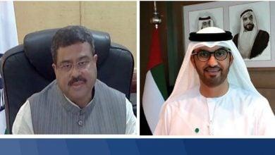 Photo of سلطان الجابر ووزير النفط الهندي يبحثان التعاون بمجال الهيدروجين
