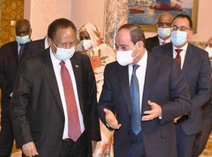 سد النهضة - جانب من لقاء السيسي وحمدوك