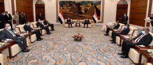 جانب من المباثات المصرية السودانية