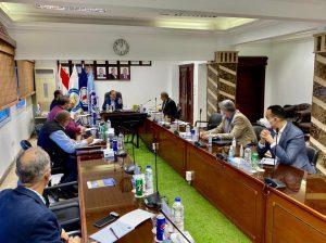 جانب من اجتماع وزير البترول المصري