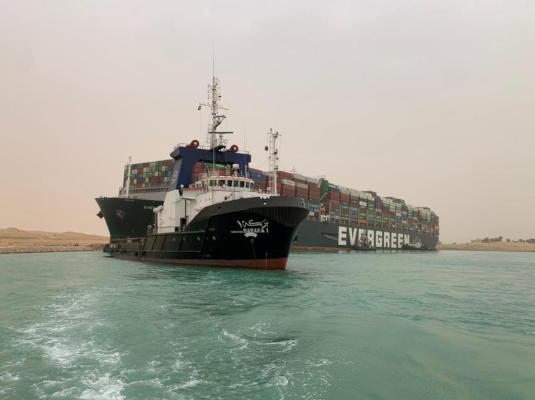 قناة السويس - السفينة إيفر جيفن