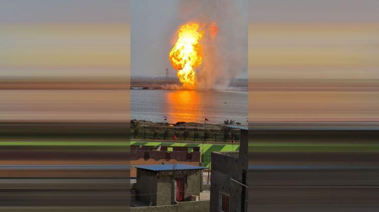 انفجار خط غاز