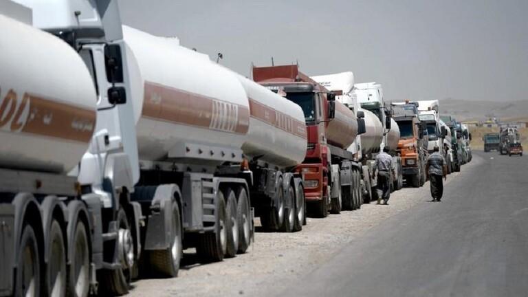 أزمة المحروقات في لبنان - شاحنات الوقود اللبنانية في طريقها إلى لبنان