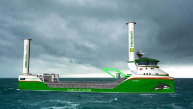 Photo of تعرّف على أول سفينة شحن فرنسية تعمل بالهيدروجين