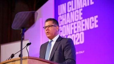 Photo of رئيس مؤتمر المناخ يشيد بتعهد الدول الكبرى بخفض الانبعاثات