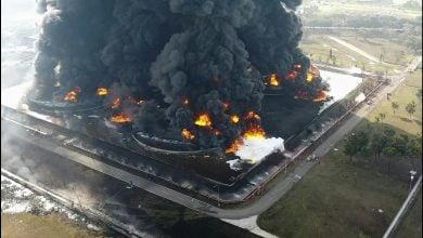 Photo of حريق ضخم يُغلق ثاني أكبر مصفاة للبوكسيت في جامايكا