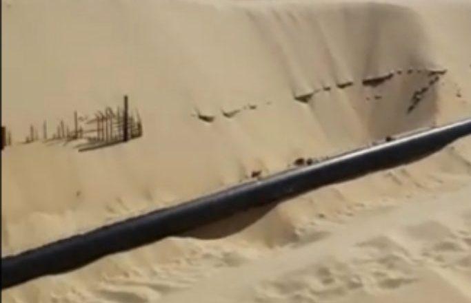 الواحة للنفط - ليبيا - أحد خطوط نقل النفط التابعة لشركة الواحة