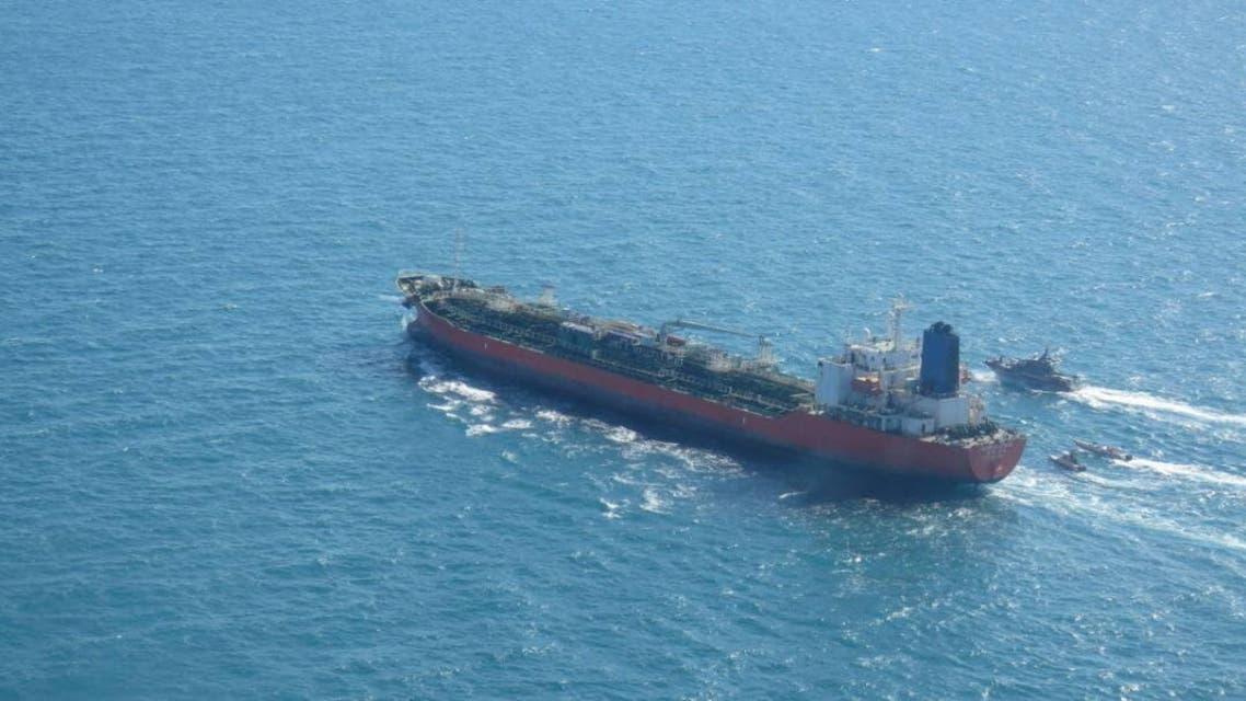 """ناقلة النفط """"هانكوك كيمي"""" في المياه الإيرانية"""
