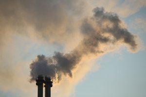 انبعاثات من محطة غاز