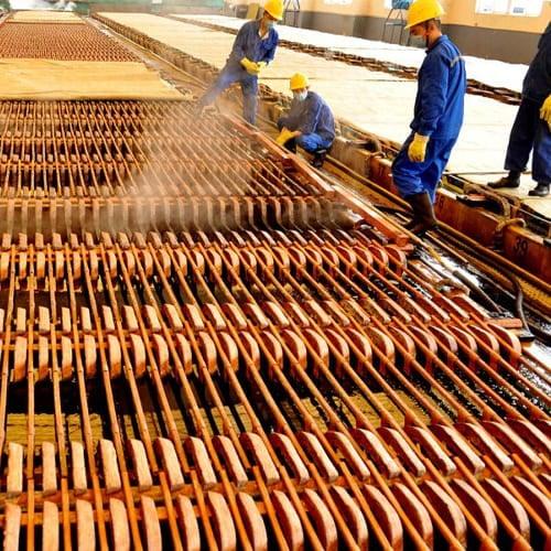أحد مشروعات النحاس في الصين