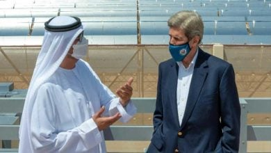 """Photo of جون كيري يتفقد """"نور أبوظبي"""" أكبر محطة للطاقة الشمسية في العالم"""