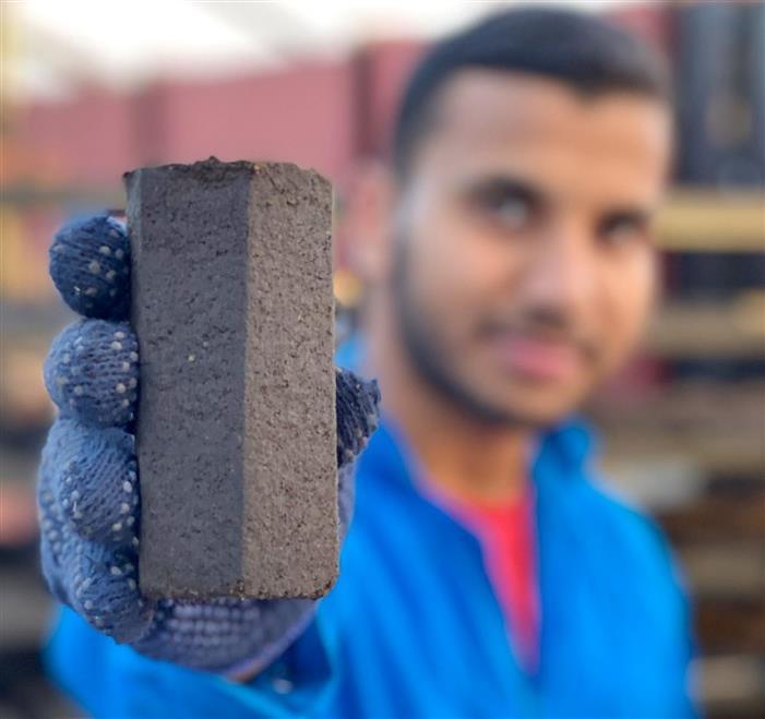 إنتاج الفحم من بقايا الفهوة