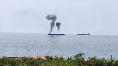 Photo of حريق في ناقلة نفط قرب ساحل مدينة بانياس السورية