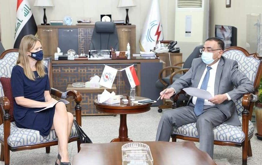 العراق - وزير الكهرباء العراقي يستقبل سفيرة دولة النرويج