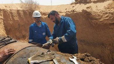 Photo of السيطرة على تسرب نفطي بالخط الرئيس في حقل الظهرة الليبي